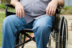 Paraplegic In Wheelchair Stock Image