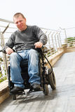 Paraplegic - Wheelchair Stock Photo