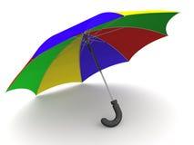 Paraplu. 3d vector illustratie
