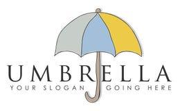 Paraplu bedrijfsteken Stock Fotografie