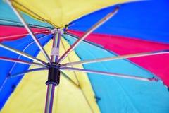 Paraplu de beschermer de macro, sluit omhoog geschoten Royalty-vrije Stock Afbeelding