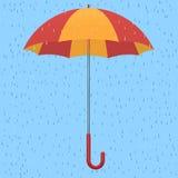 Paraplu in de regen Royalty-vrije Stock Afbeeldingen