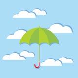 Paraplu in de Wolken vector illustratie