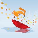 Paraplu die door de wind wordt geblazen Royalty-vrije Stock Foto's