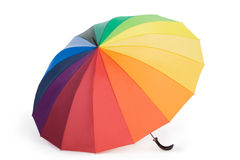 Paraplu die op de witte achtergrond wordt geïsoleerde Royalty-vrije Stock Foto's