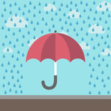 Paraplu die tegen regen beschermen Vector Illustratie