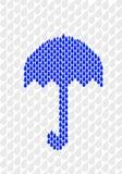 Paraplu die van regendruppels wordt gemaakt Stock Foto's