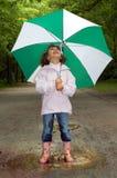 Paraplu en laarzen Royalty-vrije Stock Fotografie