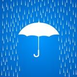 Paraplu en regen vector illustratie