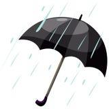 Paraplu met regen vector illustratie