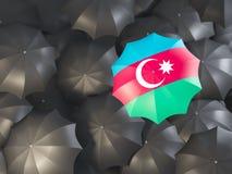 Paraplu met vlag van azerbaijan royalty-vrije illustratie