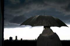 Paraplu-onweer Royalty-vrije Stock Afbeeldingen