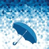 Paraplu op abstracte geometrische achtergrond. vector illustratie