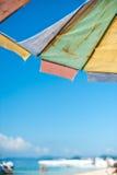 Paraplu op het strand Stock Afbeeldingen