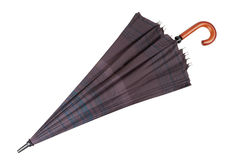 Paraplu op wit wordt geïsoleerd dat Royalty-vrije Stock Foto's