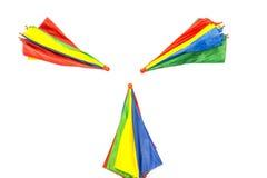 Paraplu op witte achtergrond Stock Afbeeldingen