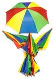 Paraplu op witte achtergrond Stock Foto's