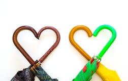 Paraplu, pen, hartsymbool Stock Fotografie