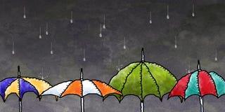 Paraplu's Stock Afbeelding