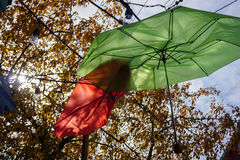 Paraplu's in de hemel Stock Afbeelding