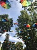 Paraplu's in de zon Stock Foto's