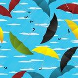 Paraplu's die patroon herhalen Royalty-vrije Stock Fotografie