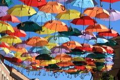Paraplu's Madrid, Getafe, Spanje Stock Foto
