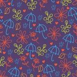 Paraplu's naadloze achtergrond Stock Afbeeldingen