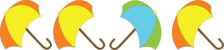 Paraplu's op een rij Royalty-vrije Stock Afbeelding