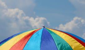 Paraplu's op het strand Royalty-vrije Stock Foto