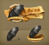 Paraplu's, vectorpictogrammen royalty-vrije illustratie