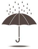 Paraplu in vector Royalty-vrije Stock Fotografie