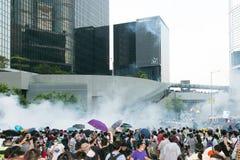 Paraplubeweging in Hong Kong Royalty-vrije Stock Afbeelding