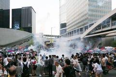 Paraplubeweging in Hong Kong Royalty-vrije Stock Fotografie