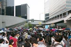 Paraplubeweging in Hong Kong Stock Fotografie
