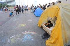 Paraplubeweging in Hong Kong Stock Afbeeldingen