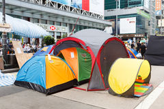 Paraplubeweging in Hong Kong Royalty-vrije Stock Afbeeldingen