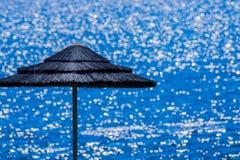 Parapluie à la plage Images libres de droits