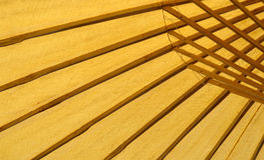 Parapluie abstrait de bambou de station thermale Photos stock