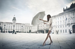 Parapluie blanc photographie stock libre de droits