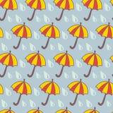 Parapluie contre Pluie Photo libre de droits