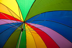 Parapluie d'arc-en-ciel Images libres de droits
