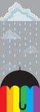 Parapluie d'arc-en-ciel illustration de vecteur