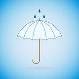 Parapluie de bleu de vecteur Photo stock