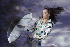 parapluie de fille Photos libres de droits