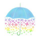 Parapluie de fleur illustration stock