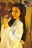 Parapluie de geisha Photos stock