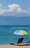 Parapluie de plage Photos stock