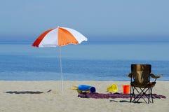 Parapluie de plage Images libres de droits