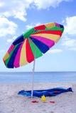 Parapluie de plage Photographie stock libre de droits